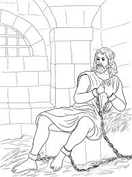 Click To See Printable Version Of John The Baptist In Prison Coloring Page