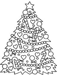 Christmas Coloring Pages Tree Inside Free Printable