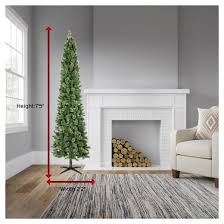 Pre Lit Pencil Cashmere Christmas Tree by 7 5ft Prelit Artificial Christmas Tree Pencil Virginia Pine Clear
