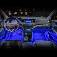 100 Led Interior Lights For Trucks Amazoncom LEDGlow 4pc Blue LED Car Underdash Lighting Kit