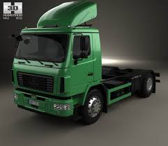 100 Maz Truck MAZ 5340 M4 Chassis 2015 3D Model Vehicles On Hum3D