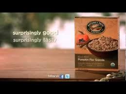 Pumpkin Flaxseed Granola Nutrition Info by Pumpkin Flax Granola Ad Nature U0027s Path Youtube