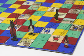 A Homemade Beatrix Potter Themed Game Of Snakes And Ladders From The 1930s