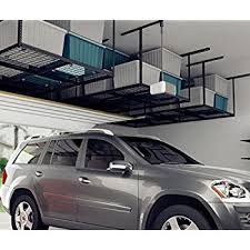 amazon com monsterrax 4x8 overhead garage storage rack heavy