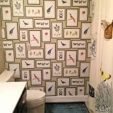 Guest Bathroom Makeover Birds Butterflies Ideas Wall Decor