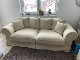 2 x sofa landhaus creme 3 sitzer