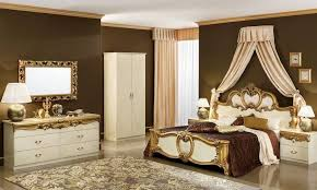schlafzimmer barocco beige gold hochglanz