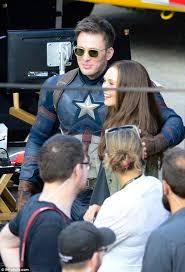 Elizabeth Olsen And Chris Evans Joke Around With Enemy Crossbones