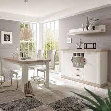 lomadox esszimmer set ferna 61 spar set 3 tlg esszimmer kombination im landhaus design pinie weiß und oslo dunkel nb ohne stühle b h t ca