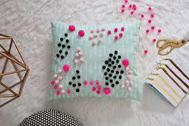 Mini Pom Pom Pillow DIY – A Beautiful Mess