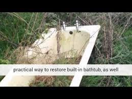 refinishing old clawfoot tub buffalo ny youtube