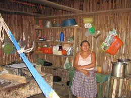 Village Women Inside Her Home