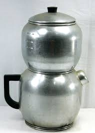 Camping Drip Coffee Maker As Well Vintage West Bend Pot Metal Double Stacked Gravity Aluminum Cup Brewing To Prepare Perfect Coleman