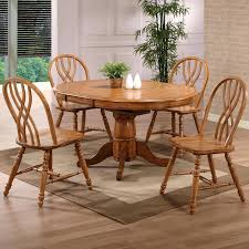 100 Oak Pedestal Table And Chairs Dining Furniture Dining Solid Single