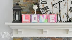 DIY Kids Craft Love Canvases