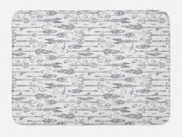 badematte plüsch badezimmer dekor matte mit rutschfester rückseite abakuhaus boho hippie gezeichnet wie formen kaufen otto