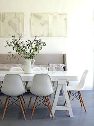 Colorful Chairs For Dining Room White Table And Calming Colors In Dowel