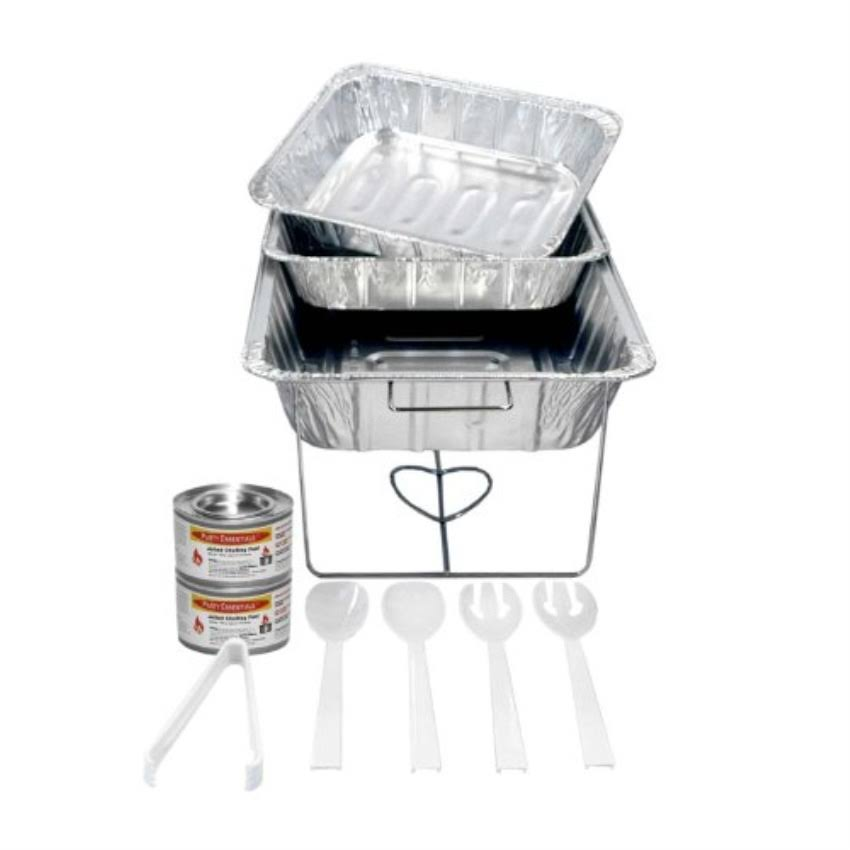 Party Essentials Buffet Party Banquet Serving Set - with Chafing Rack, 11pcs
