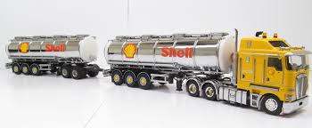 100 Radio Controlled Semi Trucks Kenworth K200 Prime Mover With Tanker Trailers SHELL