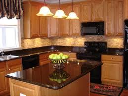 kitchen tiles backsplash brick tile out of the woods cabinets