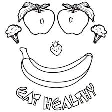healthy eating clip art black and white