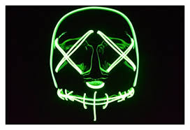 Purge Anarchy Mask For Halloween by Amazon Com Plurfect Lights The Purge Election Year El Wire Mask