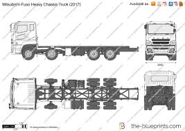 100 Truck Chassis MitsubishiFuso Heavy Vector Drawing