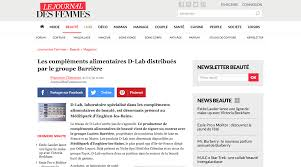 journal des femmes cuisines press review web d lab nutricosmetics