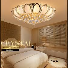 moderne lotus blume kristall deckenleuchte gold deckenleuchte europäischen luxus schlafzimmer hause innen club beleuchtung cl186