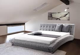 designer stoff bett miami stoffbett grau polsterbett mit lattenrost lattenrahmen 160 180 x 200 cm günstig