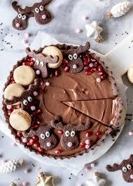 lebkuchen schokoladen tarte rezept mit preiselbeeren