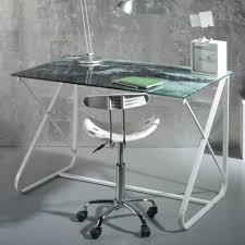plateau verre trempé bureau bureau en verre affordable bureau table en verre petit bureau verre