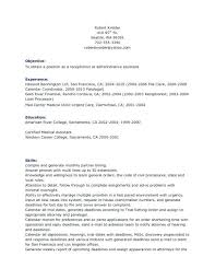 Here Are Receptionist Resume Objective Bilingual Free Sample