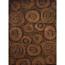 Harmony Tree Trunk Brown Rustic Area Rug 7 10 X 6 Free Regarding Design 0