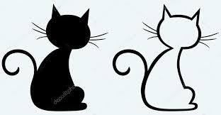 cat silhouette black cat silhouette stock vector kreativ 11445931
