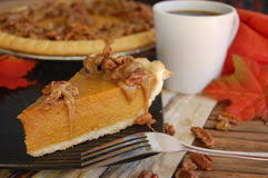 Pumpkin Pie With Pecan Praline Topping by Pumpkin Pie Coffee Stock Photos Royalty Free Pictures