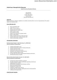 receptionist resume sles resume exles for receptionist jobs