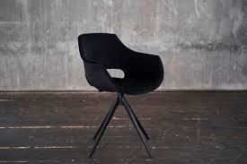 kawola stuhl zaja esszimmerstuhl drehbar velvet schwarz