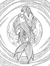 Dragons Fairy Fae Wings Fairies Mermaids Mermaid Siren Sword Sorcery Magic Witch Wizard Coloring Pages Colouring Adult Detailed Advanced Printable