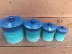 Savannah Turquoise Kitchen Canister Set by Savannah Turquoise Kitchen Canister Set Spring Decor Pinterest
