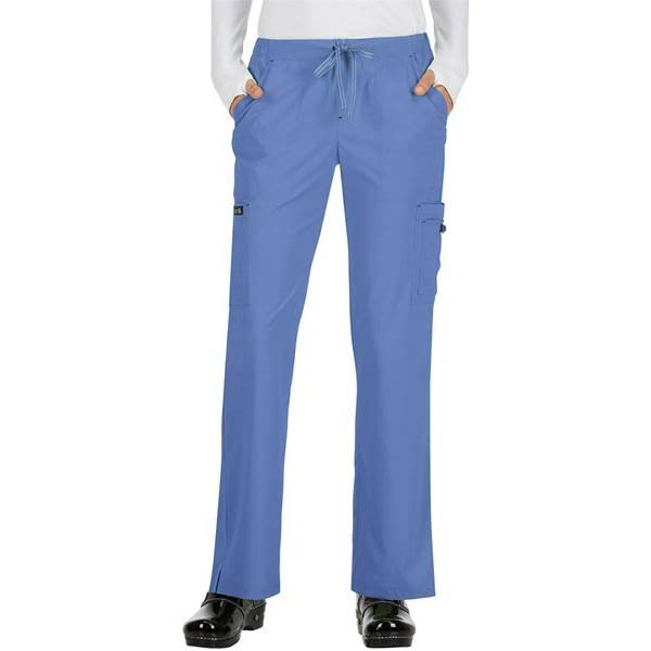 Koi Basics Women's Holly Cargo Scrub Pants - M - True Ceil