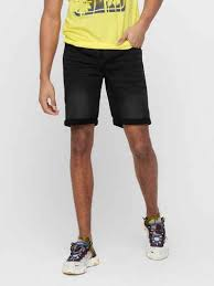 only sons onsply black damage jeansshorts