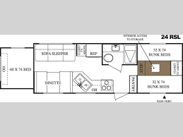 Travel Trailer Floor Plans With Bunk Beds by Used 2005 Keystone Rv Hornet Lite 24 Rsl Travel Trailer At