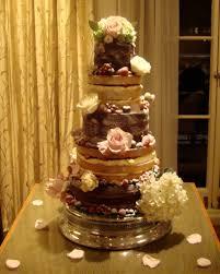 5 Tier 3 Layer Naked Wedding Cake
