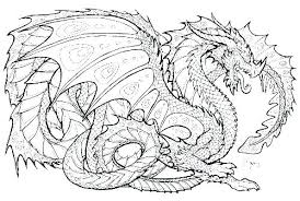 Adults Difficult Dragons Coloring Pages Printable Hard Of Full Size