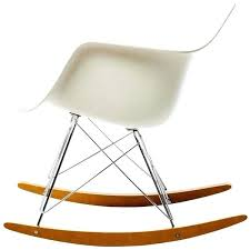 white plastic rocking chair recycled balcony intended for