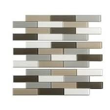 Menards Beveled Subway Tile by Mohawk Phase Mosaics Stone And Glass Wall Tile 3 8