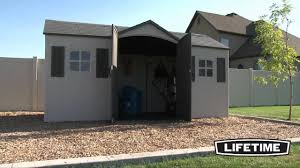 Rubbermaid Gable Storage Shed 5 X 2 by Lifetime 15x8 Garden Storage Shed 6446 Youtube