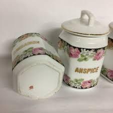 Ceramic Kitchen Canister Sets Antique European Ceramic Kitchen Canisters Set Of 9