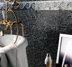 bathroom mosaic tile wall glass plain earth sicis